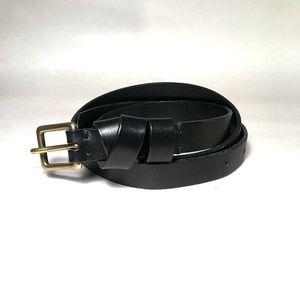 Madewell Leather Crisscross Skinny Belt in BLACK